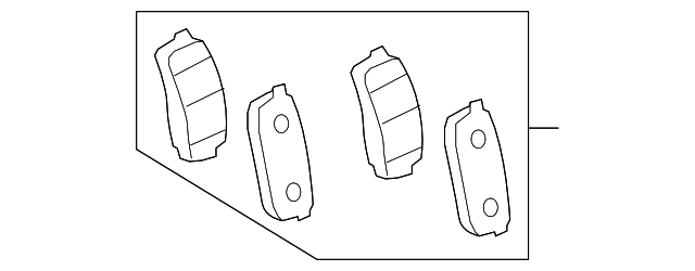 Rear Brake Pads - Toyota (04466-60090)