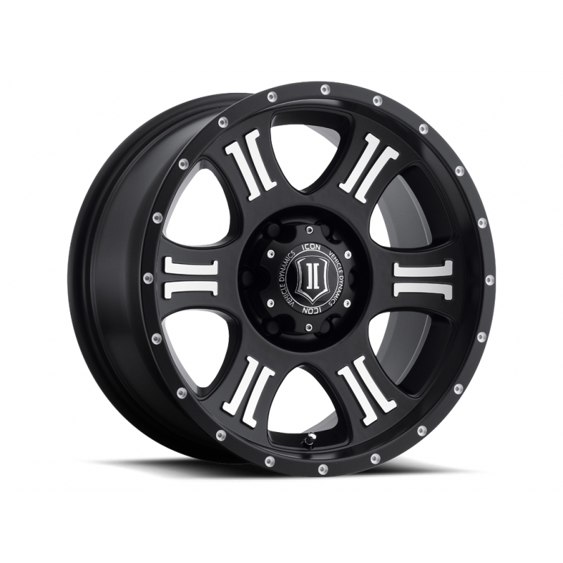"ICON SHIELD 17"" Satin Black & Machined Finish"