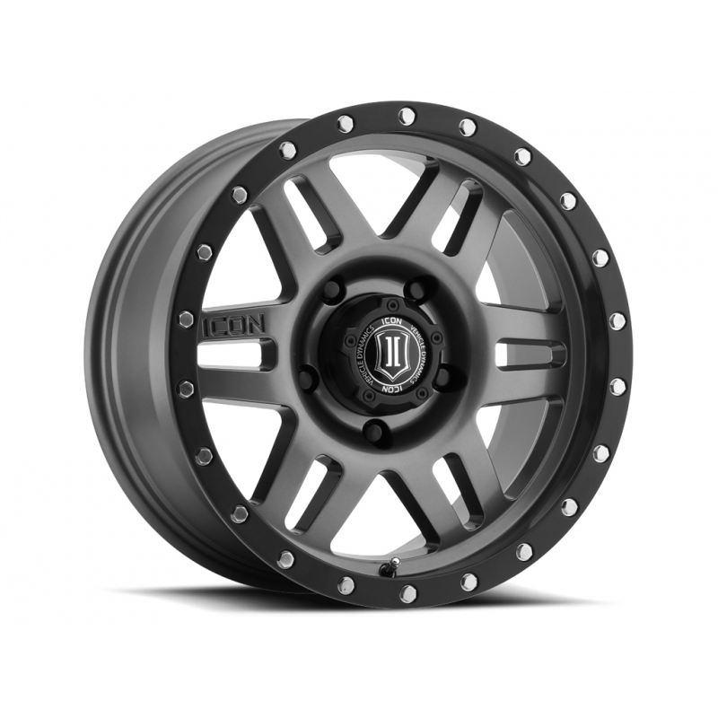 "ICON SIX SPEED 17"" Gunmetal Finish"