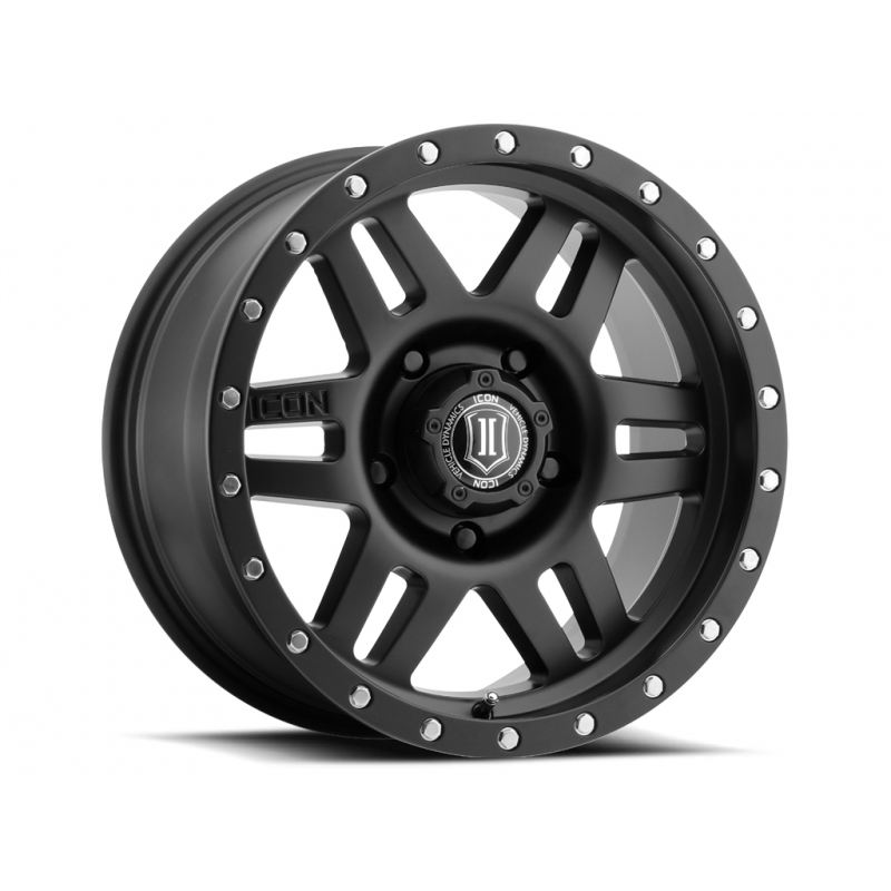 "ICON SIX SPEED 17"" Satin Black & Machined Finish"