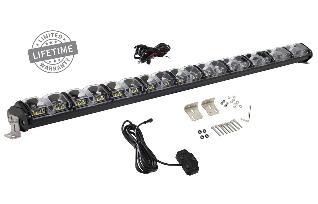 Overland Vehicle Systems 50 Inch LED Light Bar With Variable Beam DRL, RGB Back Light 6 Brightness EKO