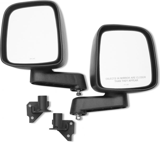 Warrior Products 2007 – 2014 Toyota FJ Cruiser Adventure Door Mirror Mounts With Mirrors