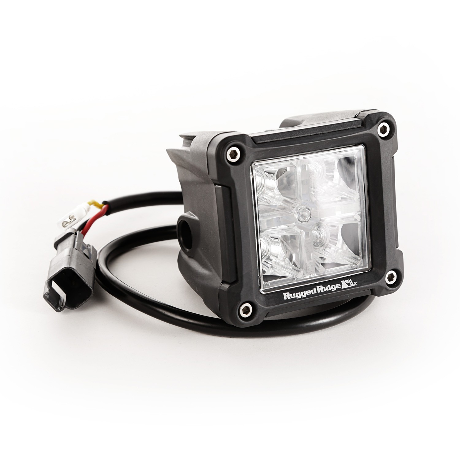 Rugged Ridge Light Kit, 3 Inch, LED, Cube, Combo High/Low Beam