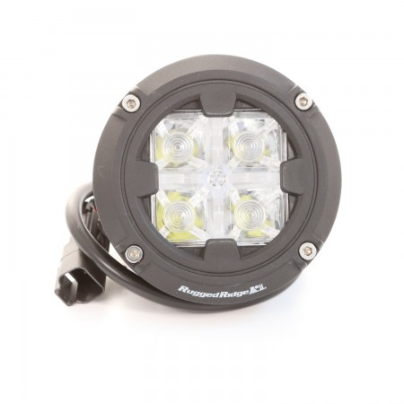 Rugged Ridge Light Kit, 3.5 inch Round, Combo High/Low Beam