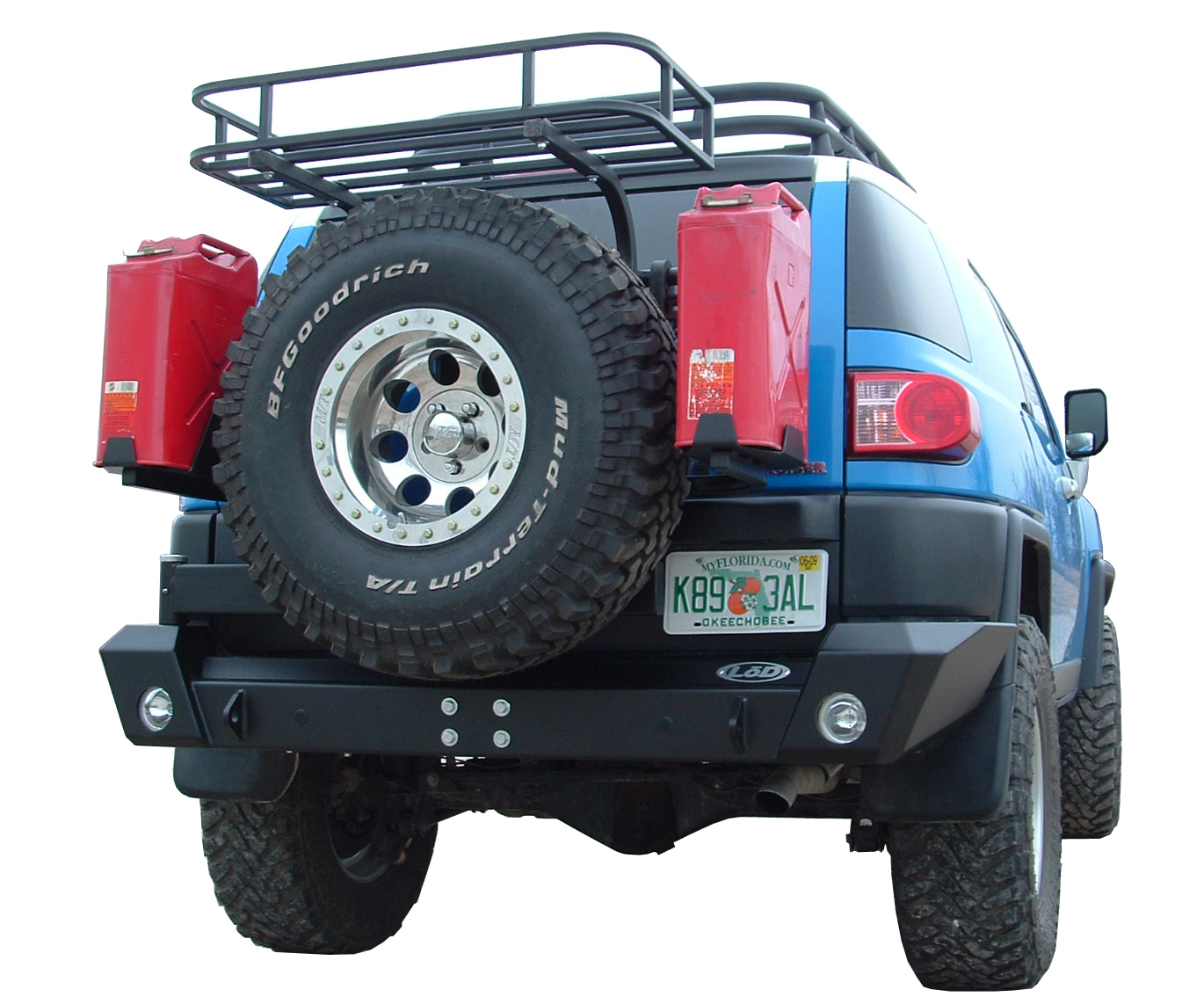 LoD FJ Cruiser Rear Bumper w/ Swing-out Tire Carrier