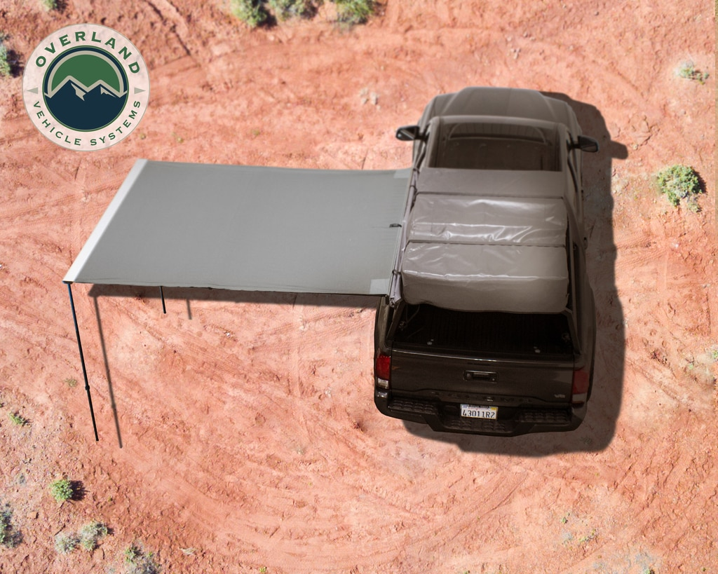 Overland Vehicle Systems Awning 2.0-6.5 Foot With Black Cover Universal Nomadic