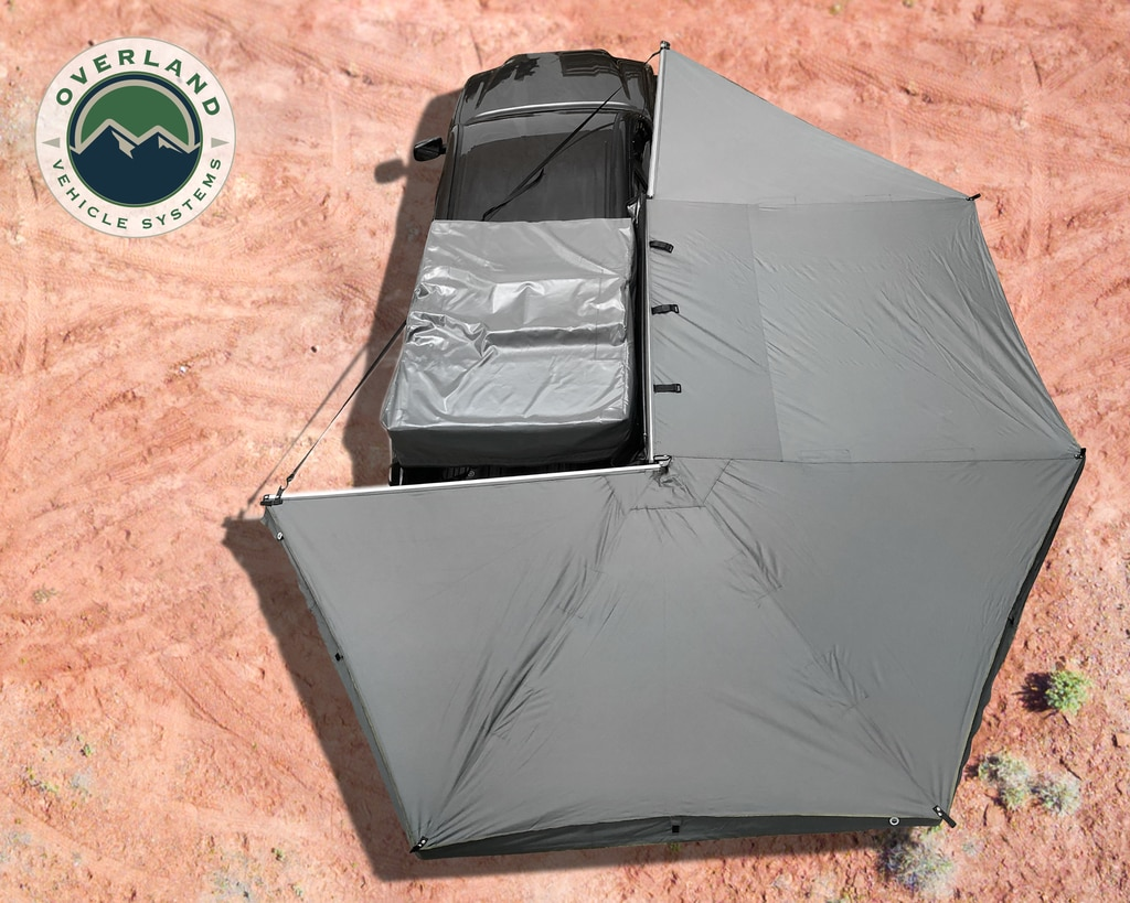 Overland Vehicle Systems Awning 270 Degree Awning and Wall 1, 2, & 3, W/Mounting Brackets Passenger Side Nomadic