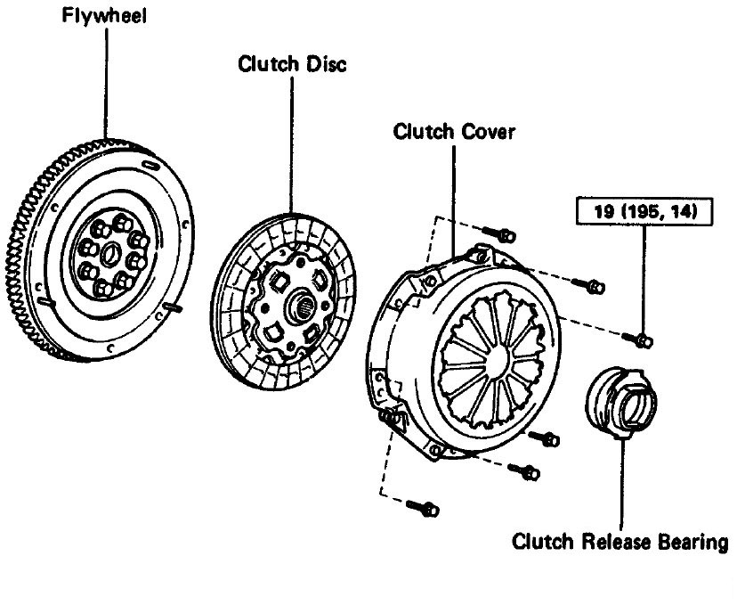 2007-2009 Clutch and Flywheel Assembly