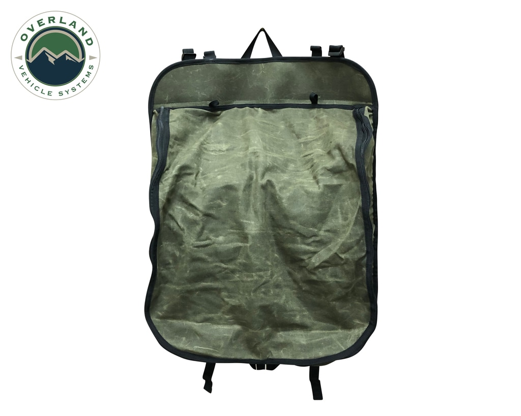 Overland Vehicle Systems Camping Storage Bag 9 Storage Bins 16 Lb Waxed Canvas