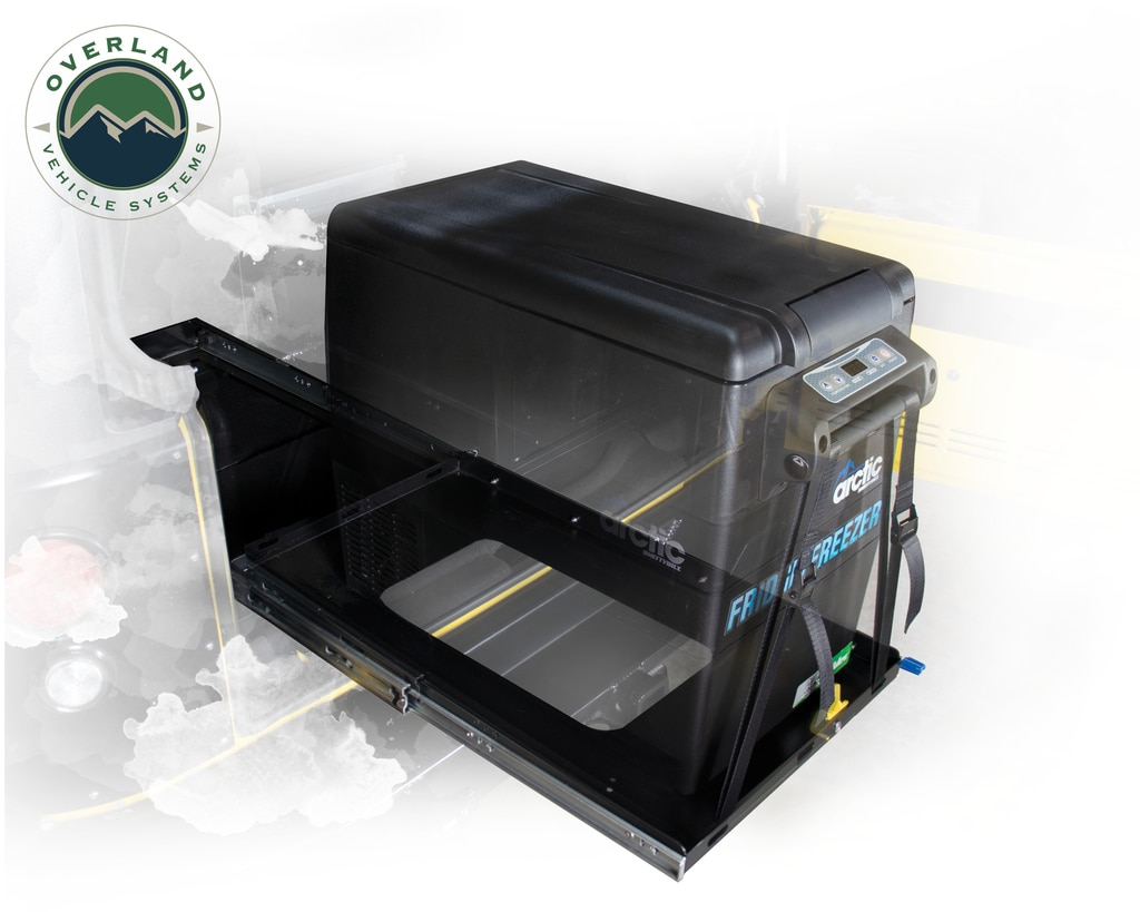 Overland Vehicle Systems Refrigerator Tray With Slide and Tilt Small