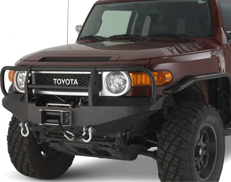 Warrior Products FJ Cruiser Winch bumper with Brush Guard - 2007-2014