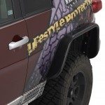 Warrior Products 2007-2014 Toyota FJ Cruiser Rear Tube Fender Flares (pair)