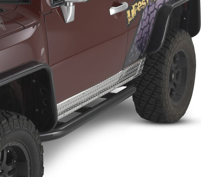 Warrior Products 2007 – 2014 Toyota FJ Cruiser Diamond Plate Sideplates - POLISHED