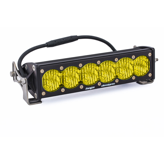 10 Inch LED Light Bar Amber Lens Wide Driving OnX6 Baja Designs