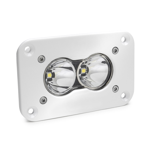 LED Work Light Flush Mount Clear Lens Work/Scene Pattern White S2 Pro Baja Designs