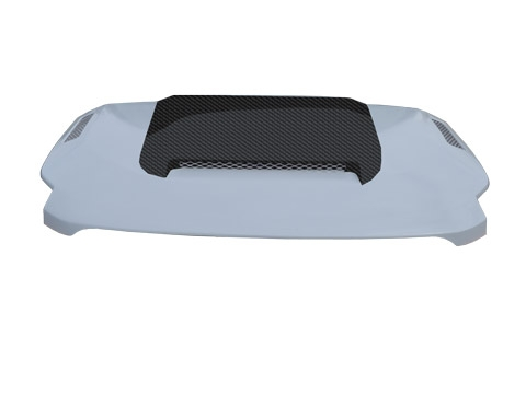 07-14 FJ Cruiser Ram Air Hood - Carbon Fiber Blister