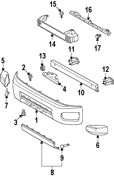 on 2007 Toyota Corolla Front End Parts Diagram