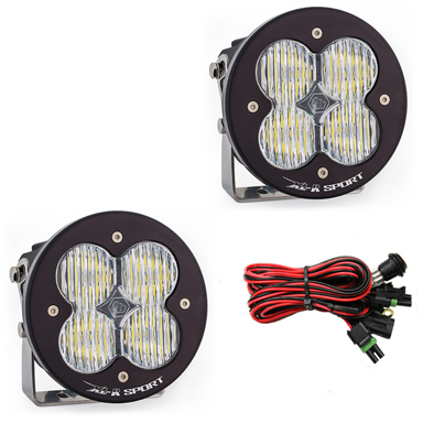 LED Light Pods Wide Cornering Pattern Pair XL R Sport Series Baja Designs