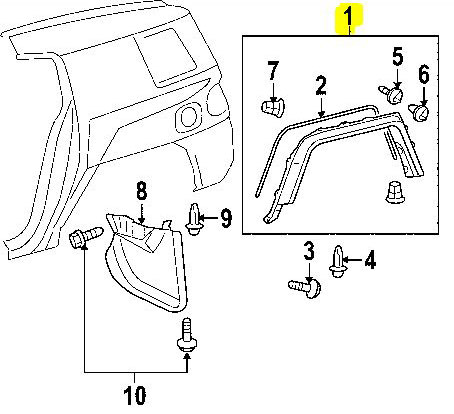 FJ Cruiser Fender Flare - REAR DRIVER