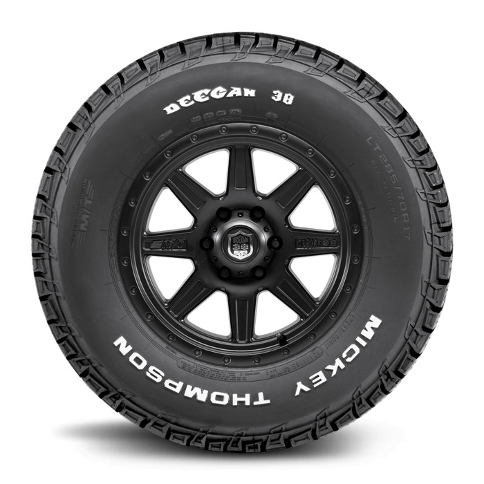 Deegan 38 All-Terrain 18.0 Inch LT285/60R18 Raised White Letter Light Truck Radial Tire Mickey Thompson