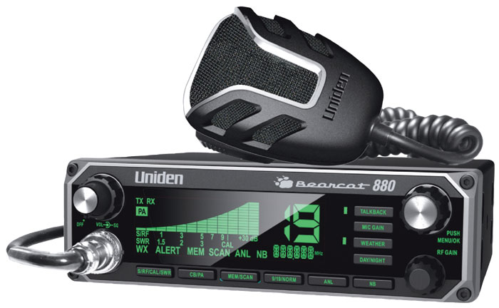 Uniden Bearcat 880 CB Radio with 7 Color Display Backlighting