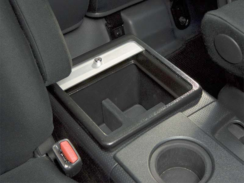 FJ Cruiser Roll-top Console Cover Insert - Borrego with Silver Satin Aluminum Slats