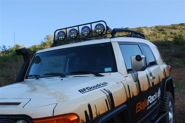Baja Rack LightBar for use on FJ Cruiser OEM Roof Rack