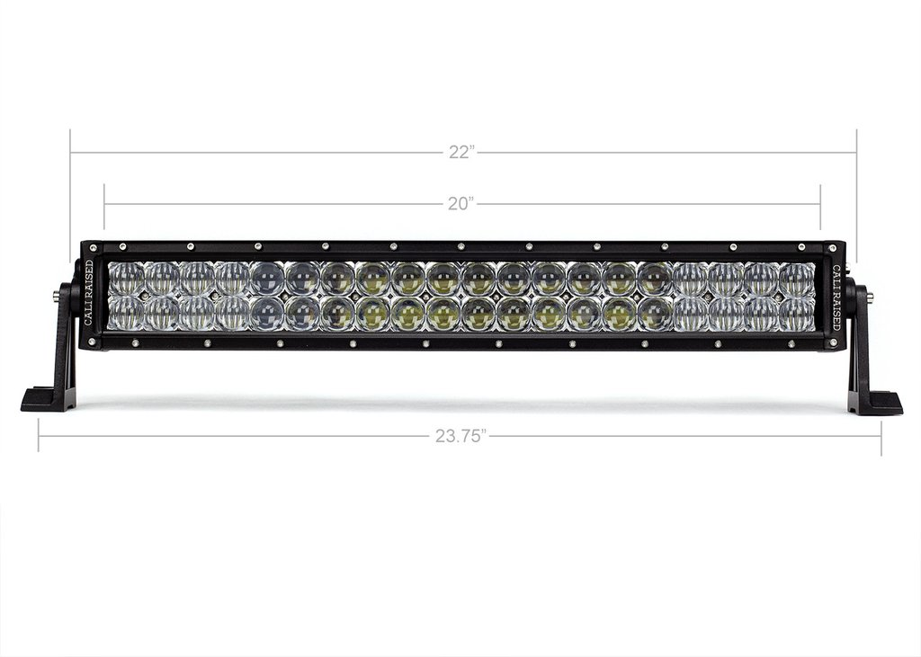 Cali Raised 22 In. Dual Row 5D Optic OSRAM LED Bar