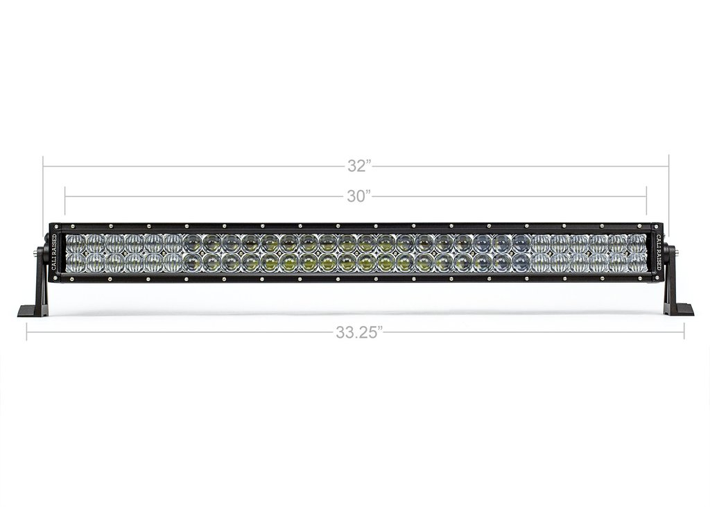 Cali Raised 32 In. Dual Row 5D Optic OSRAM LED Bar