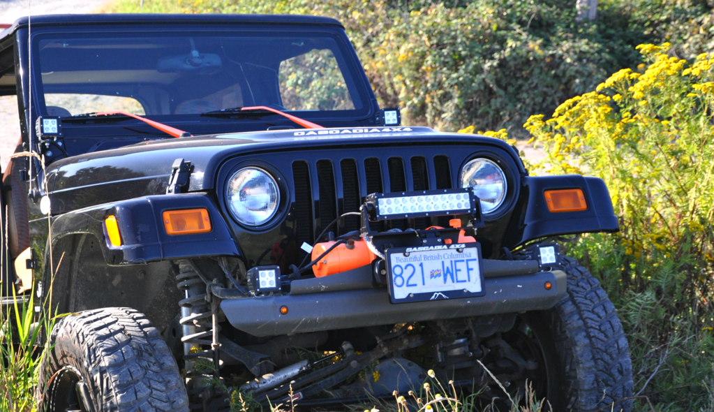 "Cascadia Flipster ""Lite"" - Fairlead Light Mount Integrated with Winch License Plate System [CHF105]"