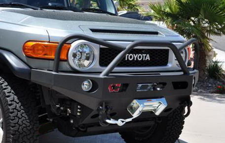 Demello Off-Road FJ Evil Eye Front Bumper - ALUMINUM