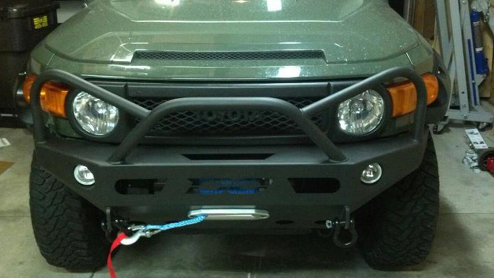Aluminum Fj Cruiser Bumpers : Demello off road evil eye front bumper aluminum do fjc