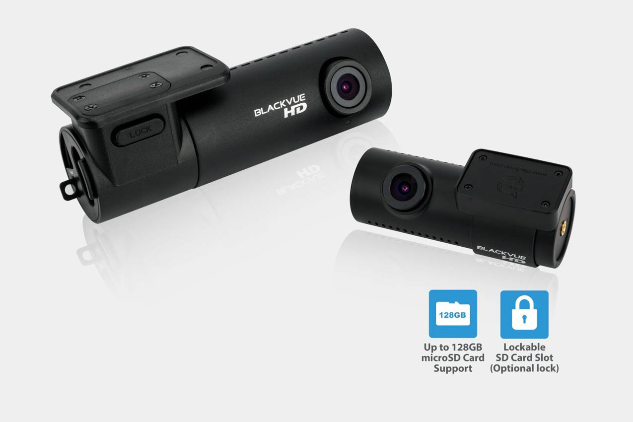 BlackVue 720p Dual-Lens Dashcam for Front and Rear