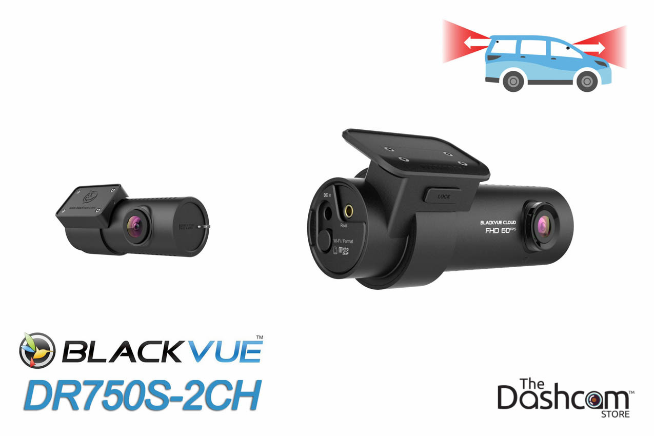 BlackVue 1080p Dual-Lens GPS WiFi Dashcam for Front & Rear