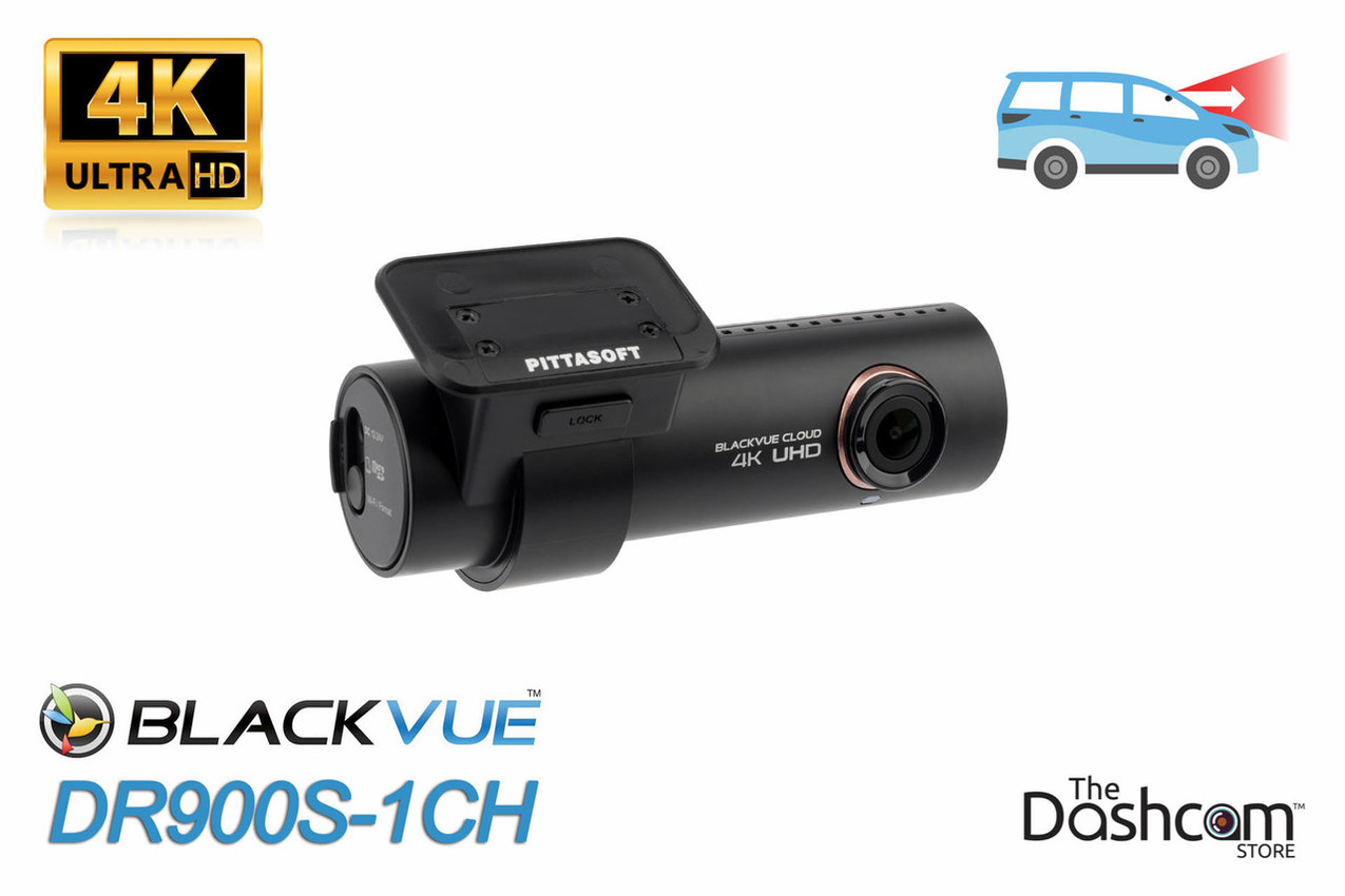 BlackVue DR900S-1CH Single Lens 4K GPS WiFi Cloud-Capable Front Dashcam - Ships Free