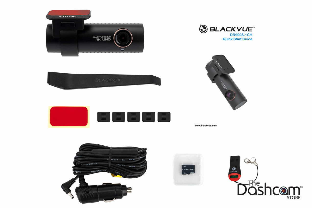 BlackVue DR900S-1CH Single Lens 4K GPS WiFi Cloud-Capable Dashcam