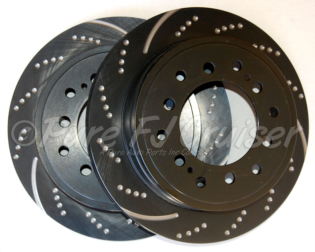 EBC REAR Left And Right Brake Disc - Drilled And Slotted - 2010+ FJ Cruiser Only