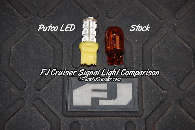 FJ Cruiser LED Rear Turn Signal Bulbs - 7440 (AMBER LED)