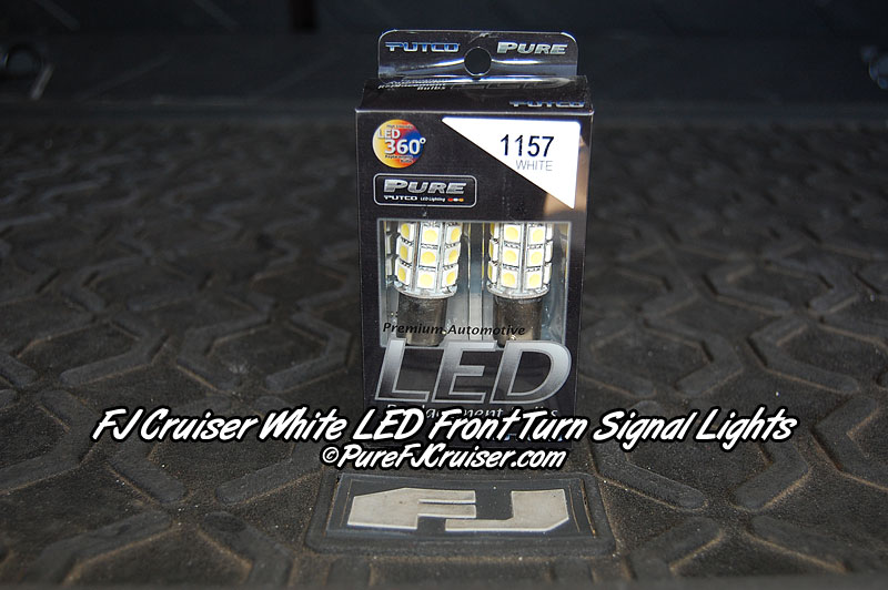 FJ Cruiser LED Front Turn Signal Bulbs - 1157 (WHITE LED)