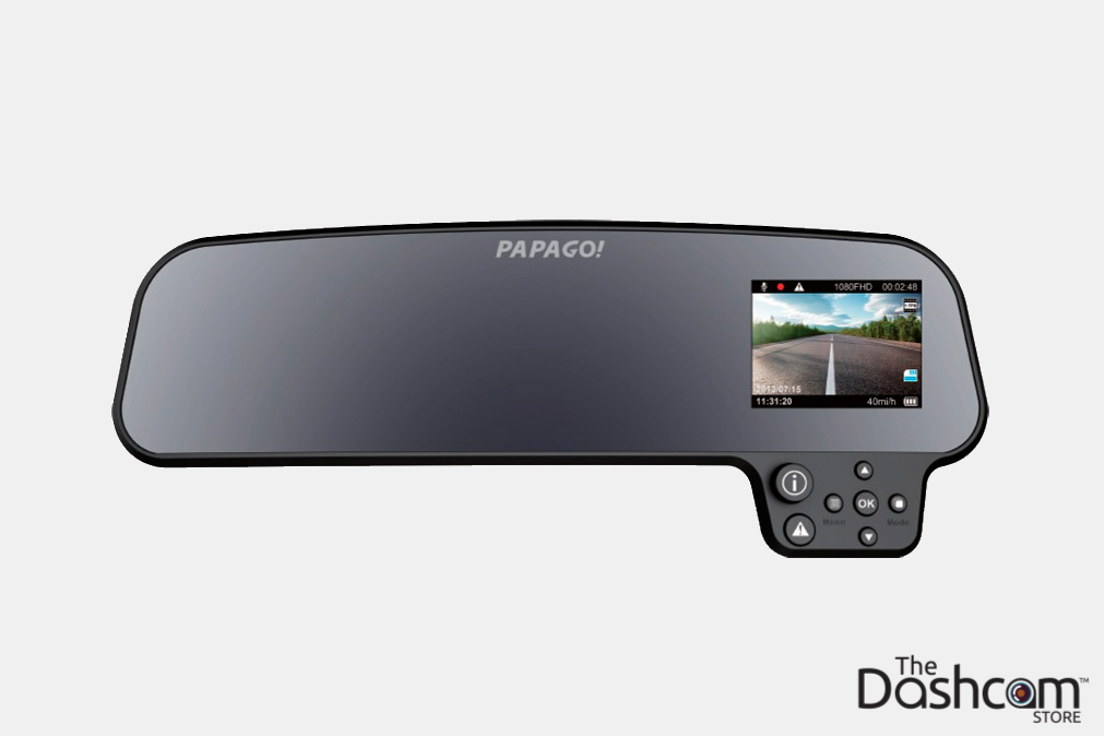 PAPAGO! GoSafe 260 Rear View Mirror Style Single Lens Dash Cam