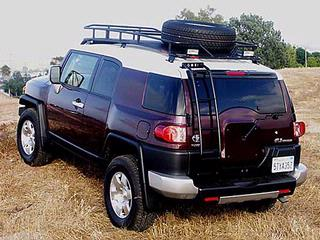 Gobi Ranger FJ Cruiser Tire Carrier Roof Rack w/ FREE Ladder & Shipping!