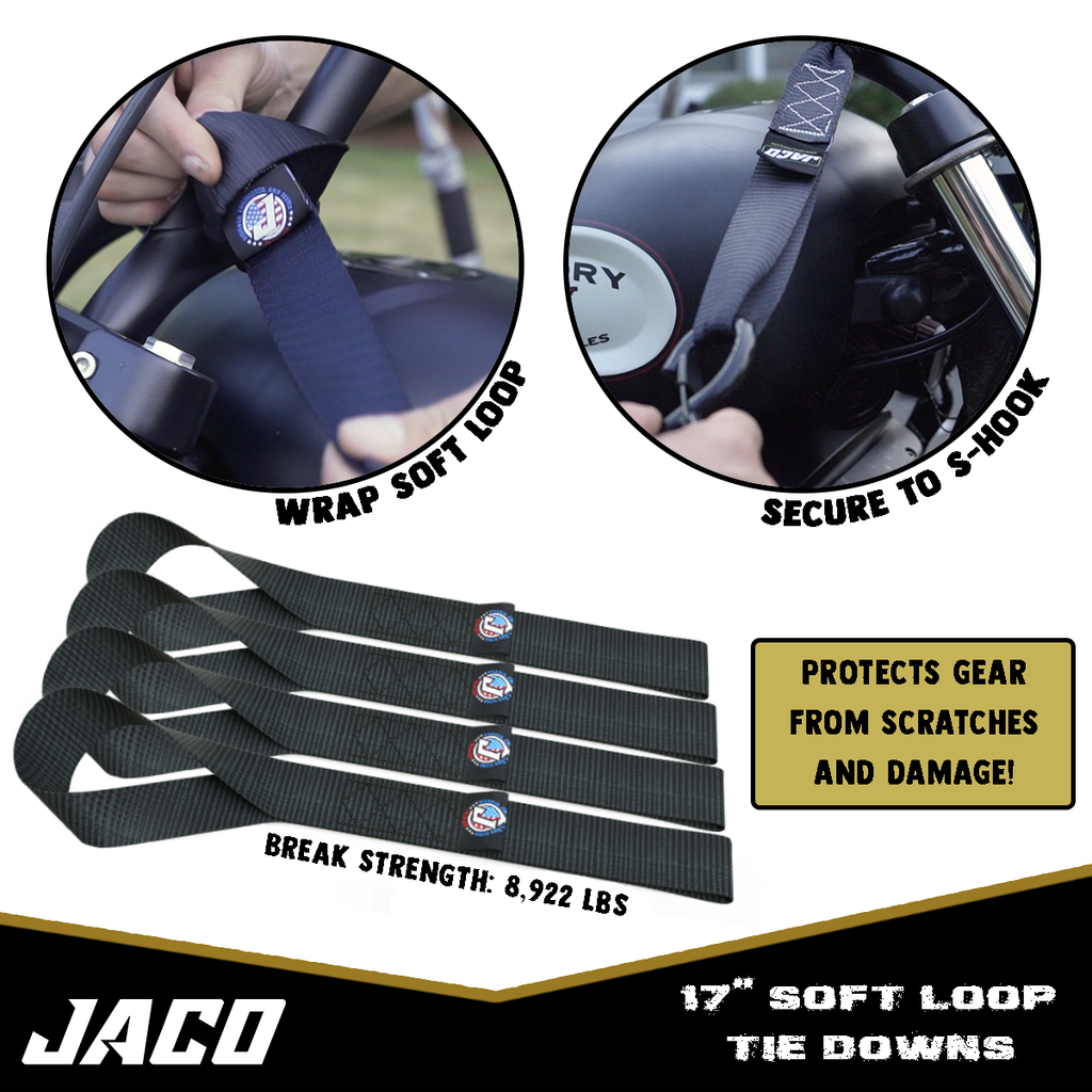 JACO Tie Down Ratchet Straps (Heavy Duty) 1.6 in x 8 ft - Ships Free!