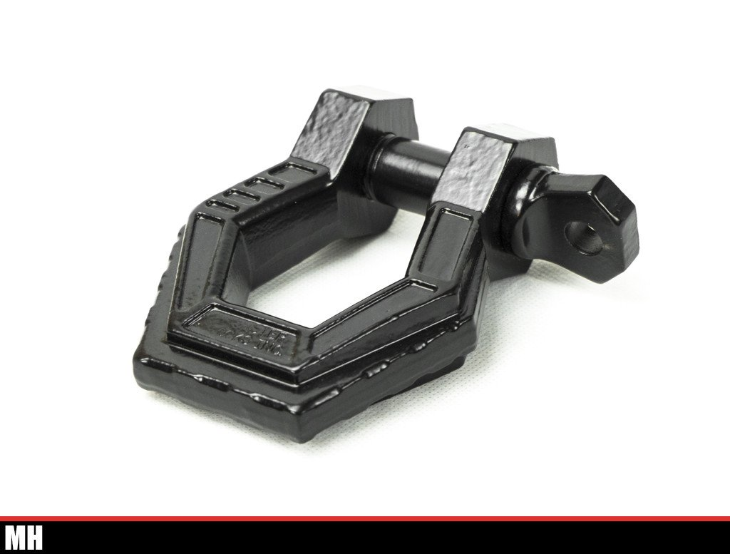 Monster Hook Off-Road Shackle - Black Powder Coat