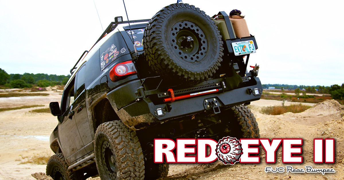 Metal-Tech Red Eye II Full Shell FJ Cruiser Rear Swing Out Bumper Stage 1