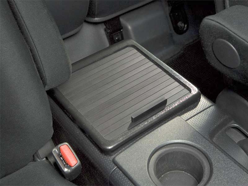 FJ Cruiser Roll-top Console Cover Insert - Panamint with Black Anodized Aluminum Slats