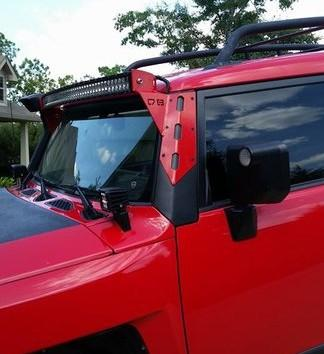 FJ Cruiser LED Curved Bar Pillar Aluminum Pillar Mounts