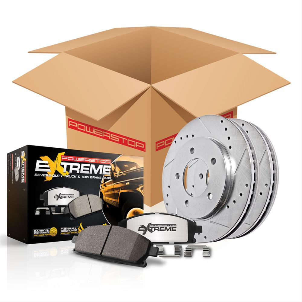 Power Stop Z36 truck & tow Brake Kit - FRONT 2007-2014