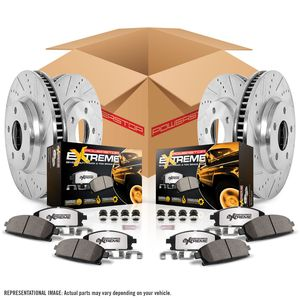 Power Stop Z36 truck & tow Brake Kit - FRONT and REAR 2007-2009