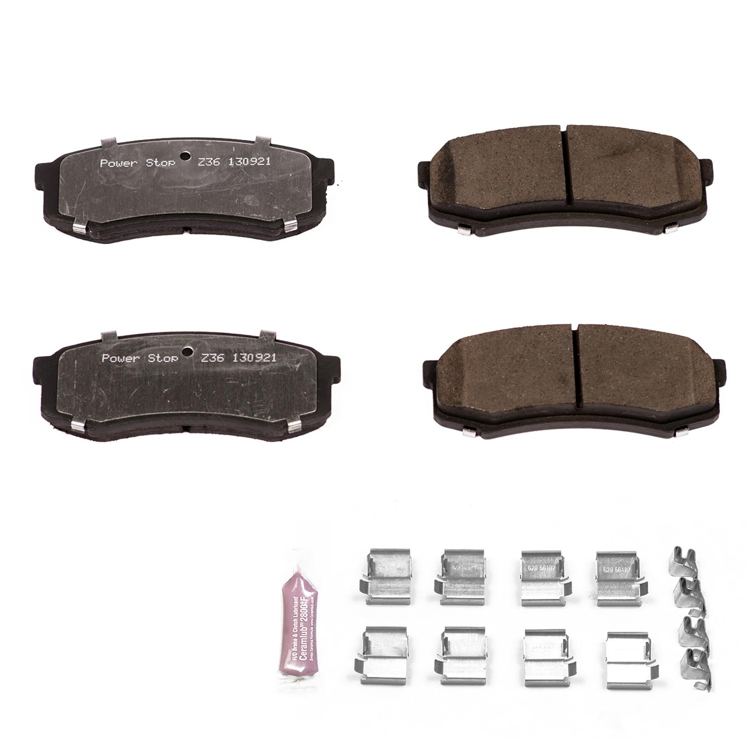 Power Stop Brake Pads Set Rear 2007+