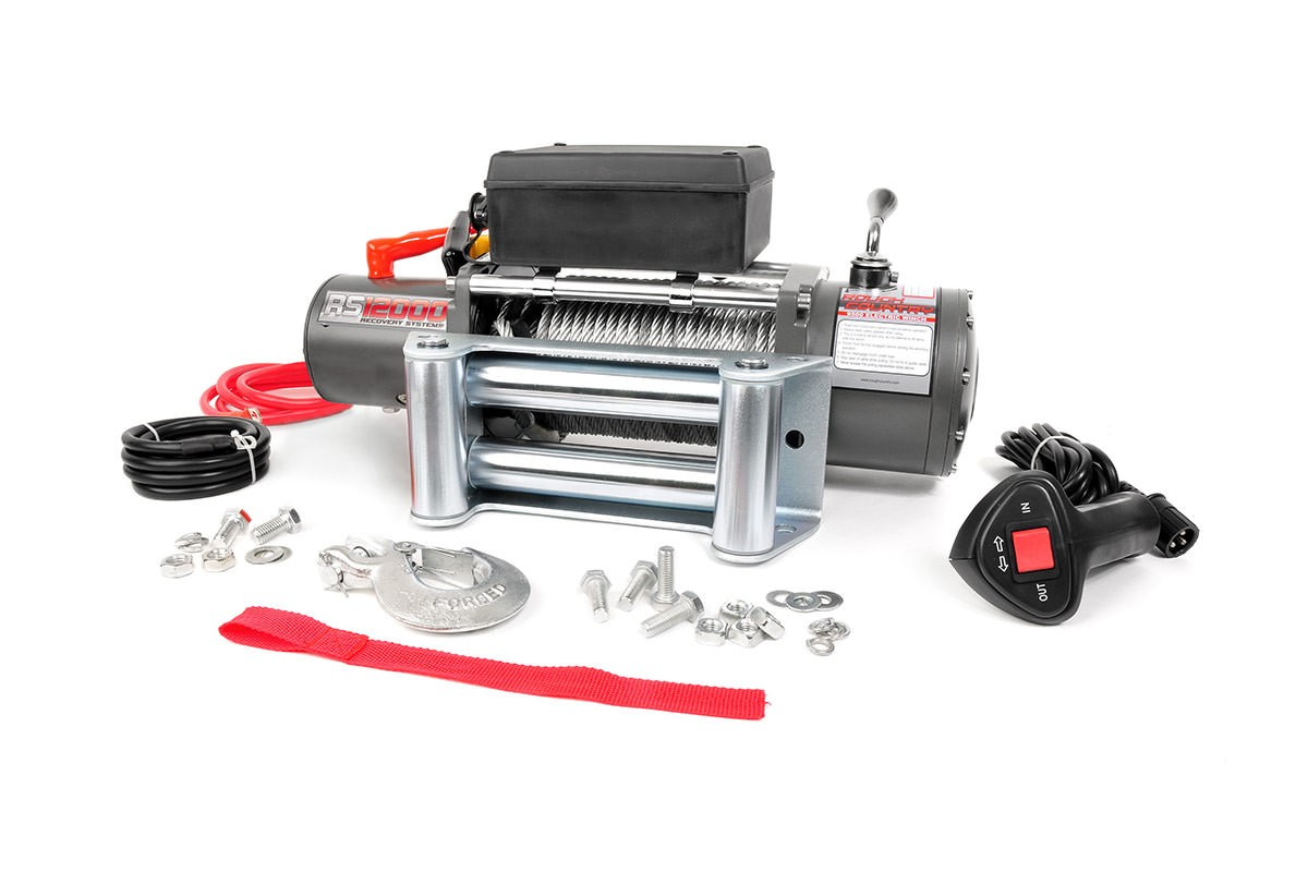 Rough Country 12000 Lb Electric Winch (Steel)